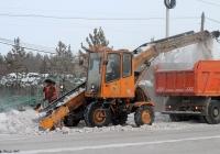 Снегопогрузчик ТКМ-237. Якутск, Вилюйский тракт