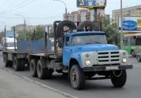 Лесовоз-сортиментовоз на шасси ЗиЛ-133ГЯ #А 662 КВ 55. Омская область, город Омск, улица Лукашевича