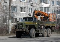 Многофункциональный кран-манипулятор МКМ-200 на базе автомобиля Урал-4320-31 #8193 АУ 50. Калуга, Новаторская улица