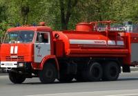 Пожарная автоцистерна на базе НефАЗ-6606-0000011-10. Башкортостан, город Уфа, Проспект Октября