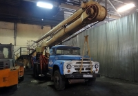 Автоподъёмник МШТС-2А(?) на шасси ЗиЛ-130 #К 672 СК 63. Тольятти, территория ТПАТП-3