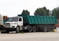 Седельный тягач Scania T143E 420 #В 162 МВ 63 с полуприцепом-самосвалом. Тольятти, Поволжское шоссе
