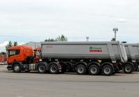 Седельный тягач Scania P400 #Т 930 РК 163. Тольятти, Поволжское шоссе