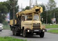 Бурильно-крановая машина БКМ-1501 на базе КрАЗ-250К #О 874 ВТ 63. Тольятти, улица Мира
