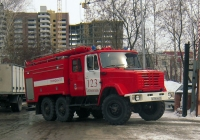 Пожарный автомобиль на шасси ЗИЛ-4334 #К 706 НХ 72 . Тюмень, улица Белинского