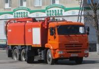 Каналопромывочная машина КО-560 на шасси КамАЗ-65115 #К 361 МВ 45.  Курган, улица Куйбышева
