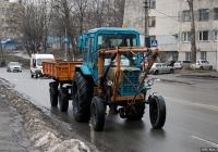 Трактор МТЗ-80* #00208 КС с навесным оборудованием и прицепом 2ПТС-4 #01413 КС. Киев, Голосеевская улица