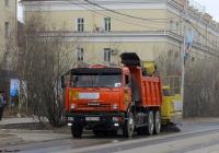 КамАЗ-65115 с подметально-уборочной машиной Broddsweden Scandinavia #С256КС14. Якутск, проспект Ленина