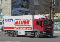 Рефрижератор Schmitz Cargobull M.KO COOL на шасси MAN TGS 28.360 #А 212 КР 37. Курган, улица Куйбышева