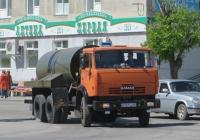 Вакуумная машина МК-10 на шасси КамАЗ-53215 #K 321 EA 45. Курган, улица Ленина