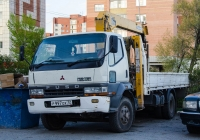 Бортовой автомобиль с КМУ Mitsubishi Fuso Fighter #Р 997 ОХ 72 . Тюмень, Червишевский тракт
