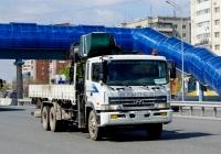 Бортовой грузовой автомобиль с КМУ Hyundai #К 997 РУ 72 . Тюмень, улица Федюнинского