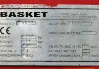 Гусеничный подъёмник Basket RQG 30, заводская табличка. Харьковская область