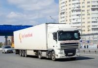 Седельный тягач DAF XF 105.460 #М 227 УО 32 с полуприцепом . Тюмень, улица Федюнинского