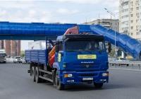 Бортовой грузовой автомобиль с КМУ КамАЗ-65117 #Н 668 СА 72. Тюмень, улица Федюнинского