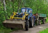 Трактор Т-40АМ #9738 НМ 37 с фронтальным погрузчиком и двухосным прицепом. Ивановская область, Каменка