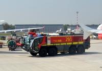 Аэродромный пожарный автомобиль Rosenbauer Panther 52.1250 8x8 CA7 SWB ARFF. Германия, Северный-Рейн-Вестфалия, Дюссельдорф, аэропорт