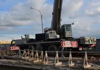 Автокран Liebherr на реконструкции моста. Россия, Санкт-Петербург, Тучков мост