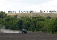 Трактор Т-150К с прицепным культиватором. Белгородская область, Алексеевский район, с. Ильинка