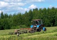 Беларус-82.1 (МТЗ-82.1) и грабли #8077 МВ. Могилёвская область, Хотимский район, Липовка