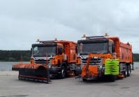 Машины коммунальные уборочные на шасси Scania. Калуга, набережная Яченского водохранилища
