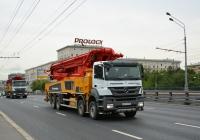 Бетононасос на шасси Mercedes-Benz Axor #Н 007 ОМ 750. Москва, Ленинградское шоссе
