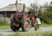 Трактор Т-40АМ #7875 СВ 66 с навесной роторной сенокосилкой. Свердловская область, Луговской, Тугулымская улица
