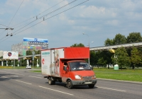 Фургон на шасси ГАЗ #Х 231 ХС 199. Москва, улица Академика Королёва