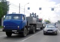 Седельный тягач МАЗ-5430 #Е 814 АК 72 с полуприцепом. Тюмень, улица Пермякова