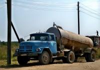 ЗиЛ-130В1 с полуприцепом-цистерной АРУП-8(автомобильный разбрасыватель удобрений пылевидных)  #ТЕ 8352. Могилёвская область, Хотимский район, Еловец