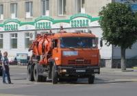 Каналопромывочная машина КО-507АМ на шасси КамАЗ-65115 #А 614 ЕТ 45.  Курган, улица Ленина