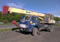 Подъемный кран КС-3571 на шасси МАЗ-5334 #в408но163. г. Самара, Красноглинское шоссе