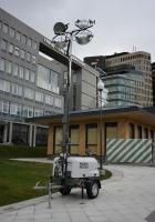 Мобильная осветительная мачта Wacker Neuson LTN6. Москва, Тверская площадь