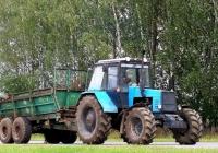 Трактор МТЗ-1221 #ТА 2416  с прицепной машиной МТТ-9 . Беларусь, Могилёвская область, Хотимский район