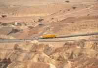 Седельный тягач Scania с полуприцепом. Израиль, Южный круг, шоссе 90 (неподалеку от Мертвого моря)