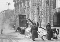 Снегоочиститель 2С-3. Москва, Моховая улица