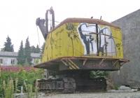 Экскаватор ОМ-202. Краснодарский край, Сочи, железнодорожная станция