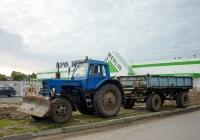 Трактор МТЗ-82  с прицепом. Россия, Архангельская область, Архангельск, улица Касаткиной