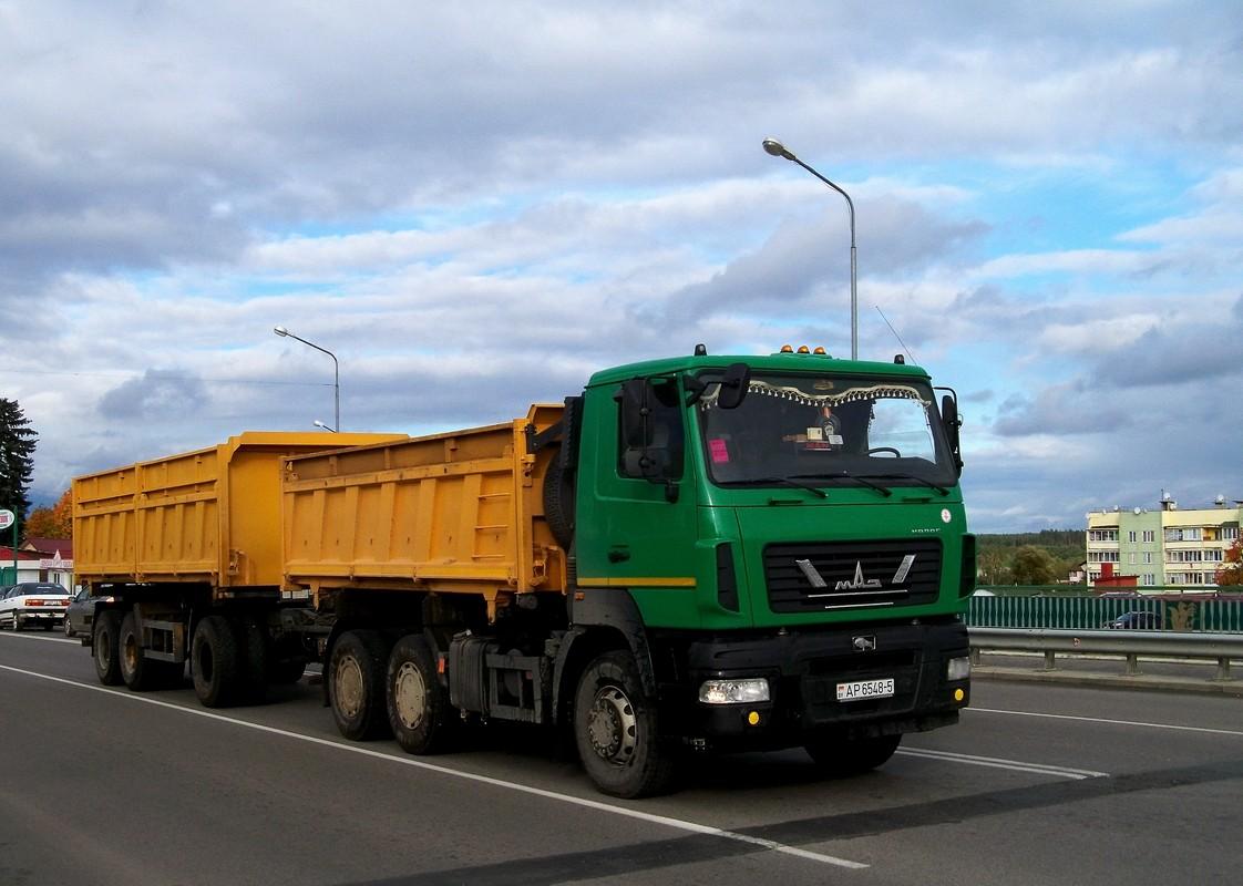 МАЗ-6501 #АР 6548-5 с трёхосным прицепом. Беларусь, Минская область, Березино