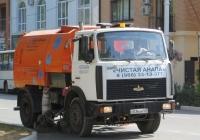 Машина вакуумная подметально-уборочная МВП-5012-01 на шасси МАЗ-5551 #Е 036 АН 123. Анапа, Крымская улица