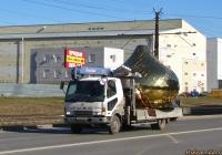 Бортовой грузовик с манипулятором Mitsubishi Fuso Fighter. Алтайский край, Барнаул, Власихинская улица