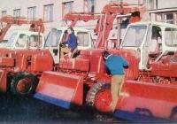 Экскаваторы ЭО-2621А Саранского завода на базе ЮМЗ-6К. Площадка готовой продукции. Саранск
