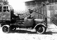 Экскаватор ДА-0,25 на автомобильном шасси ЯГ-6. Место съёмки неизвестно