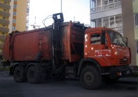 Мусоровоз КО-440-5 на шасси КамАЗ-65115. Тюмень, мкр. Ямальский-2