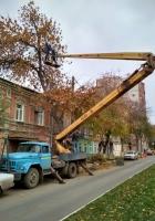 Автоподъёмник ВС-22-МС на шасси ЗиЛ-130* . г. Самара, ул. Ленинская