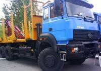 Сортиментовоз на шасси Урал-63685 с КМУ ОМТЛ-70 на автовыставке. Тюмень, Севастопольская улица