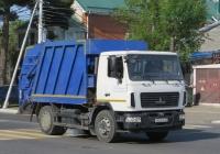 Мусоровоз КМ 7028-26 на шасси МАЗ-5340B2 #Х 863 ОА 123. Анапа, Крымская улица