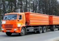 Зерновоз на шасси КамАЗ-65117 #Н 211 КУ 32 с прицепом. Россия, Брянская область, Унеча