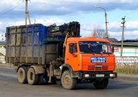 Ломовоз с КМУ ОМТЛ-97-06 на шасси КамАЗ-53229  #Н 204 МХ 67. Россия, Смоленская область,Рославль