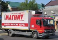 Изотермический фургон на шасси Mercedes-Benz Atego 1224L #У 662 HE 123. Анапа, Крымская улица